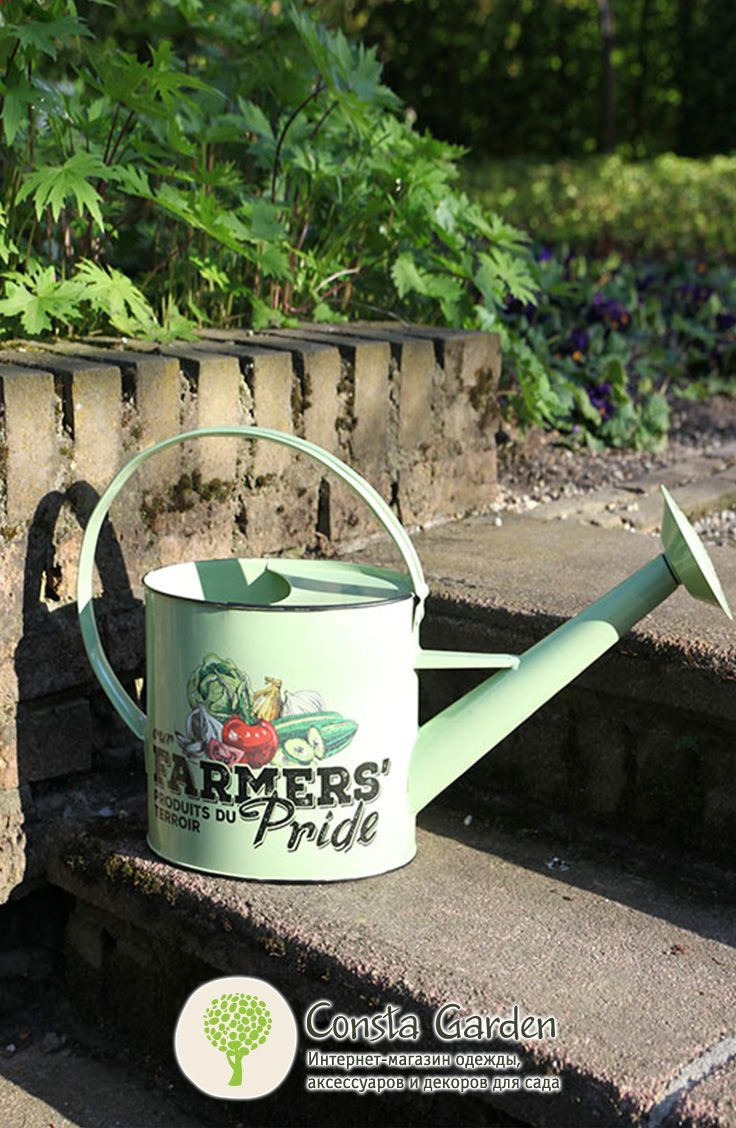 Лейка садовая «Фермер» Esschert Design.Красивая эмалированная лейка для полива садовых растений не только функциональна, но и интересна в качестве декоративного элемента в саду.