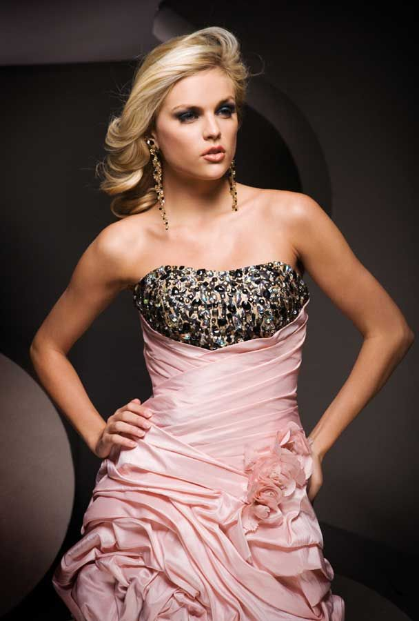 High Low Pink And Leopard Party Dress 11069 Tony Bowls Leopards
