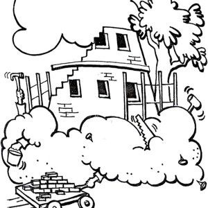 Tower Of Babel With Its Top Reaching Heaven Coloring Page