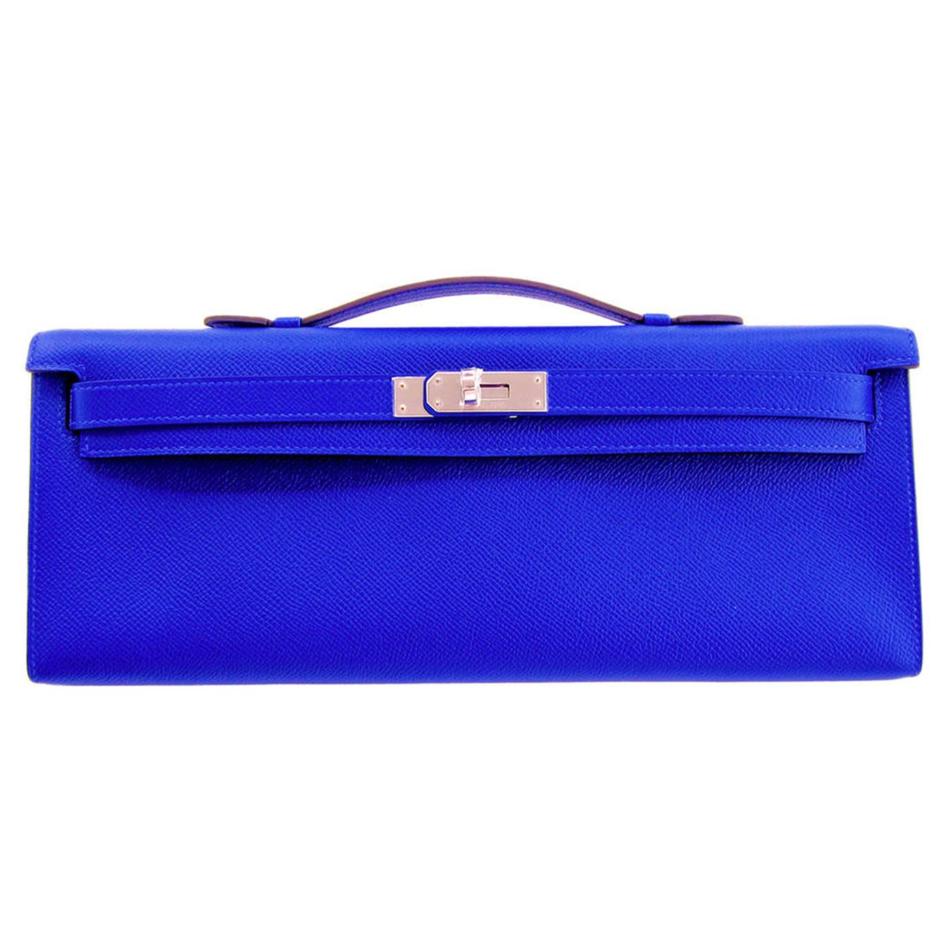 949777850d6 Hermes  Kelly Cut  Clutch  Bag Blue Electric Epsom   ! ♥ Fashion ...