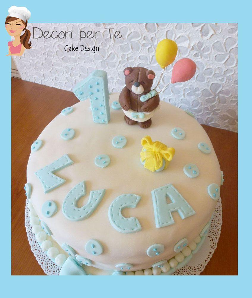 1 Baby Boy Birthday Cake Hand Made Cake Design Pinterest