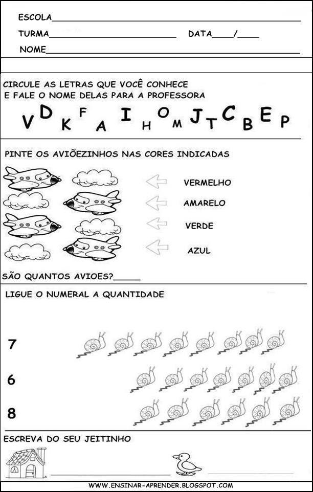 Avaliacao Diagnostica 2 Aprendizagem Atividades Escolares
