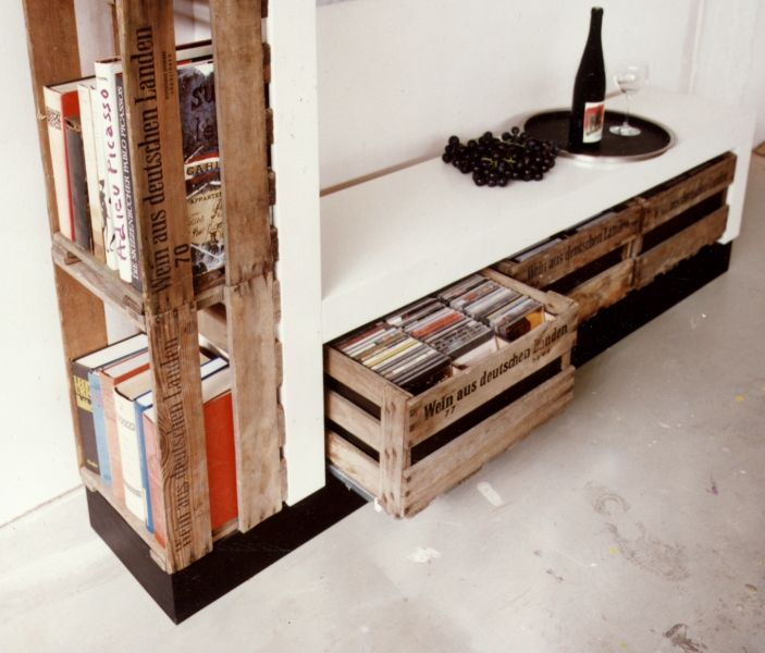 Weinkisten möbel  Kisten zu Schubladen | diy | Pinterest | Schubladen, Kisten und ...
