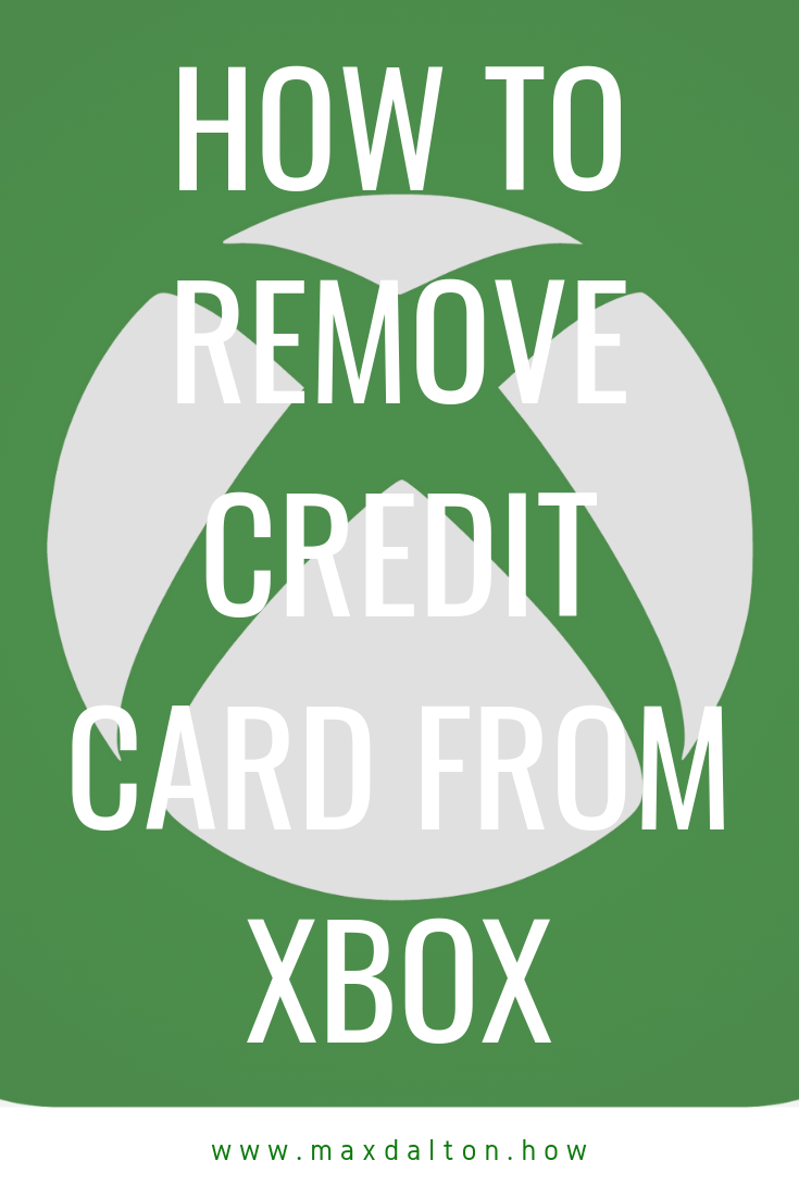 How To Remove A Credit Card From Xbox : remove, credit, Remove, Credit, Remove,, Xbox,