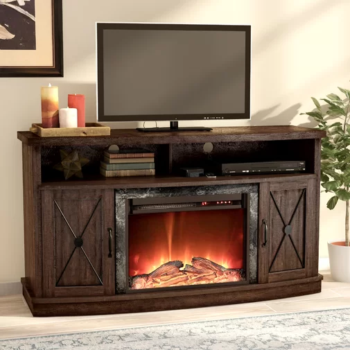 Schuyler Tv Stand For Tvs Up To 60 Inches With Electric Fireplace