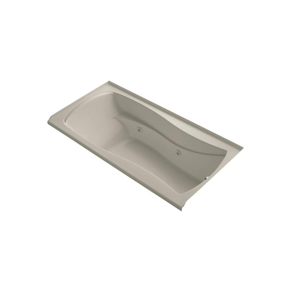 KOHLER Mariposa 6 ft. Rectangular Drop-in Whirlpool Bath Tub in ...