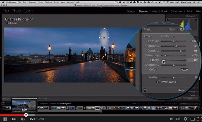 How to use radial filter in lightroom