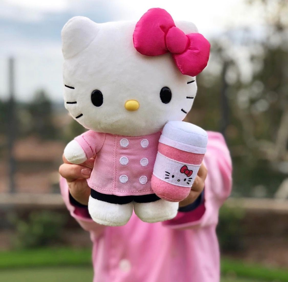 HelloKitty café's exclusive plush (^.^) pink cup