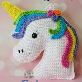 crochet sweet unicorn toy Amigurumi doll rattle|doll rattle|toy ... | 320x320