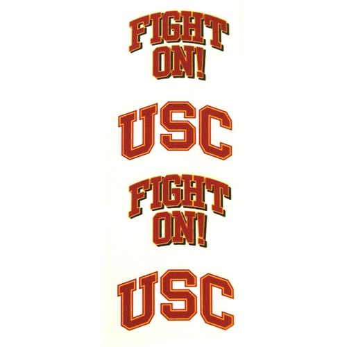 Game day face tattoos!!!! A must have!!!!! Show my Trojan ...
