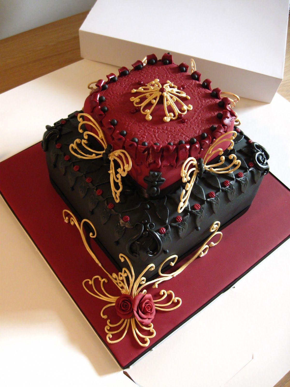 elaborate gold cake Cakes by Lyndsey Luxury 60th Birthday cake