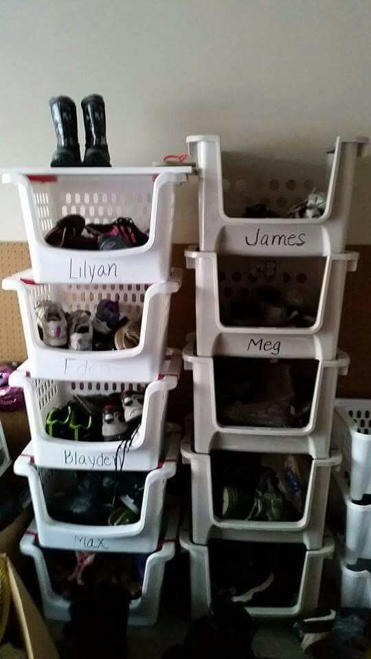 Shoe Organization For Large Families Small House Organization Shoe Organizer Large Family Organization