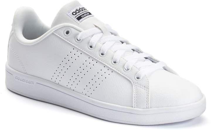 adidas NEO Women s Advantage Clean VS W Casual Sneaker White