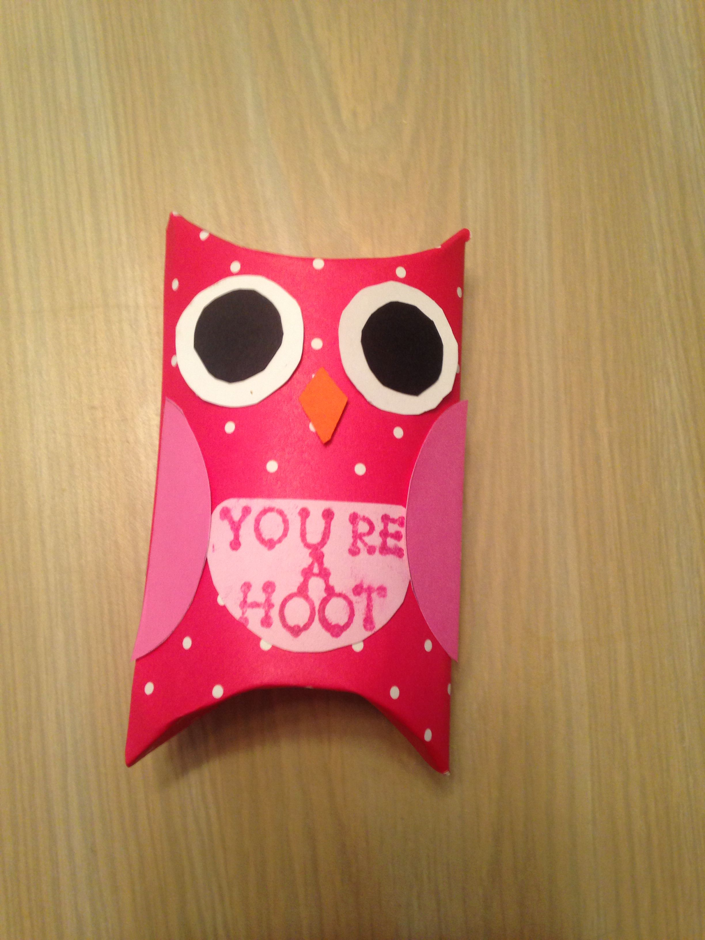 Levi S Valentines Day Cards Made With Toilet Paper Rolls Owl Valentinesday Cards