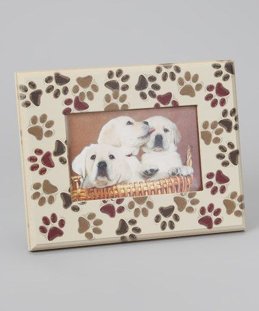 Take a look at this Dog Speak Paw Print Picture Frame by Top Dog Collection on #zulily today!