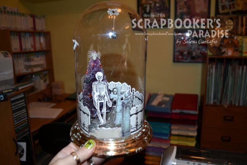 Scrapbooker's Paradise Ponderings: Graveyard in a bottle