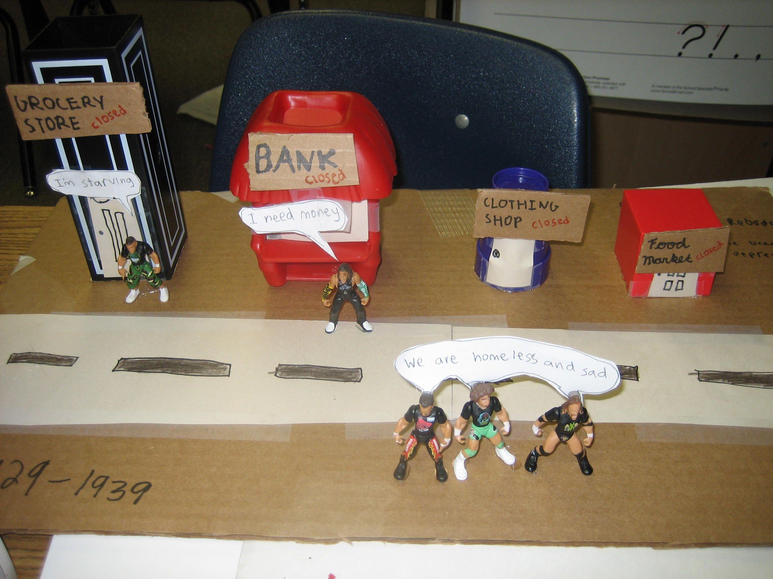 A 5th Grade Diorama Of The Great Depression
