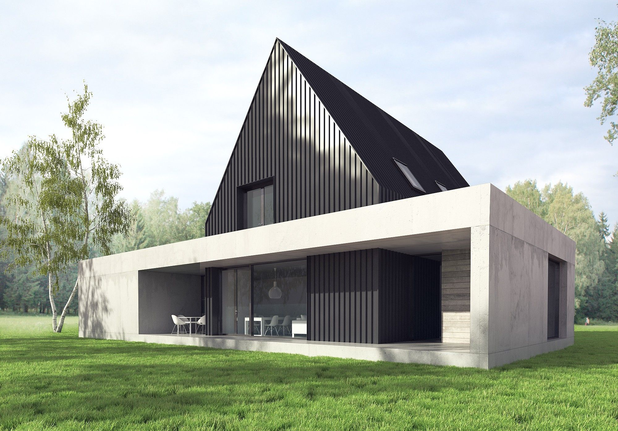 MEL Space - House A   houses - best   Pinterest   Satteldach modern ...