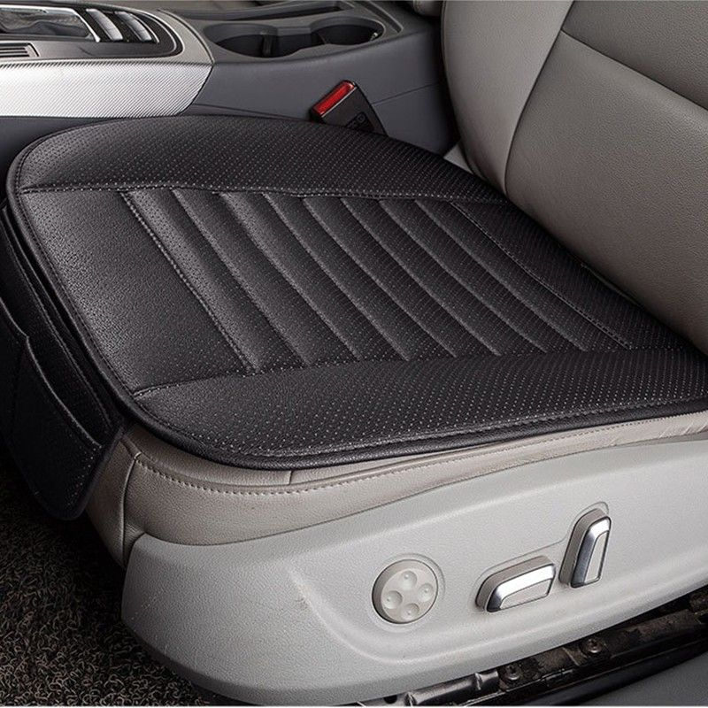 Black Breathable PU Leather Bamboo Charcoal Car Interior