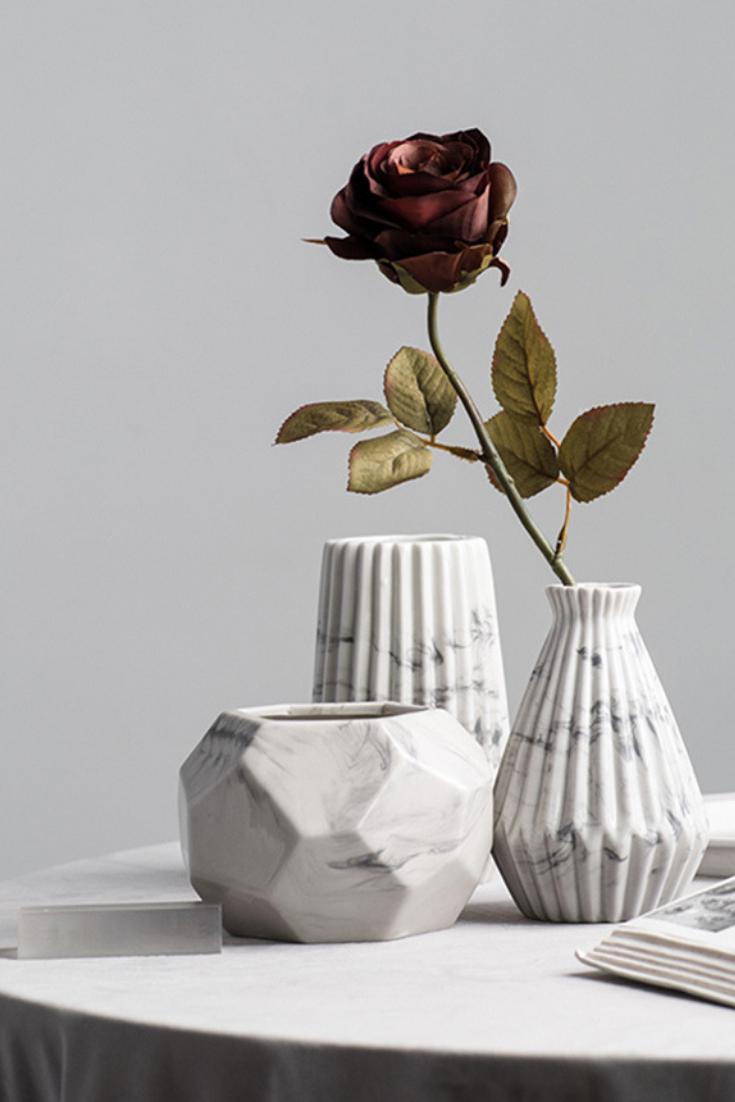 Geometric Ceramic Vase Flower Vases Geometric Vases Geometric Flower