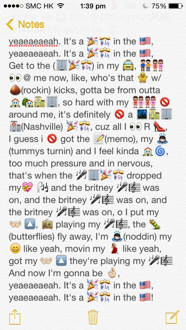 Emoji Lyrics Party In The Usa Part 2 By Miley Cyrus Funny Emoji Texts Funny Text Messages Crush Emoji Texts
