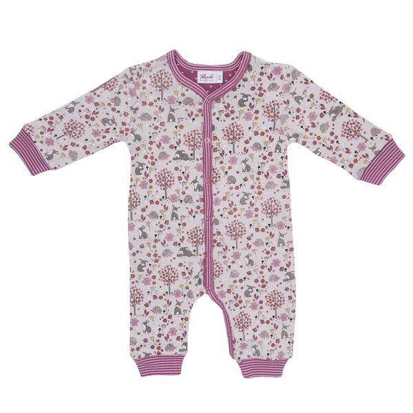 People Wear Organic – Baby Overall hellblau u. hellrosa bedruckt Bio | Avocadostore