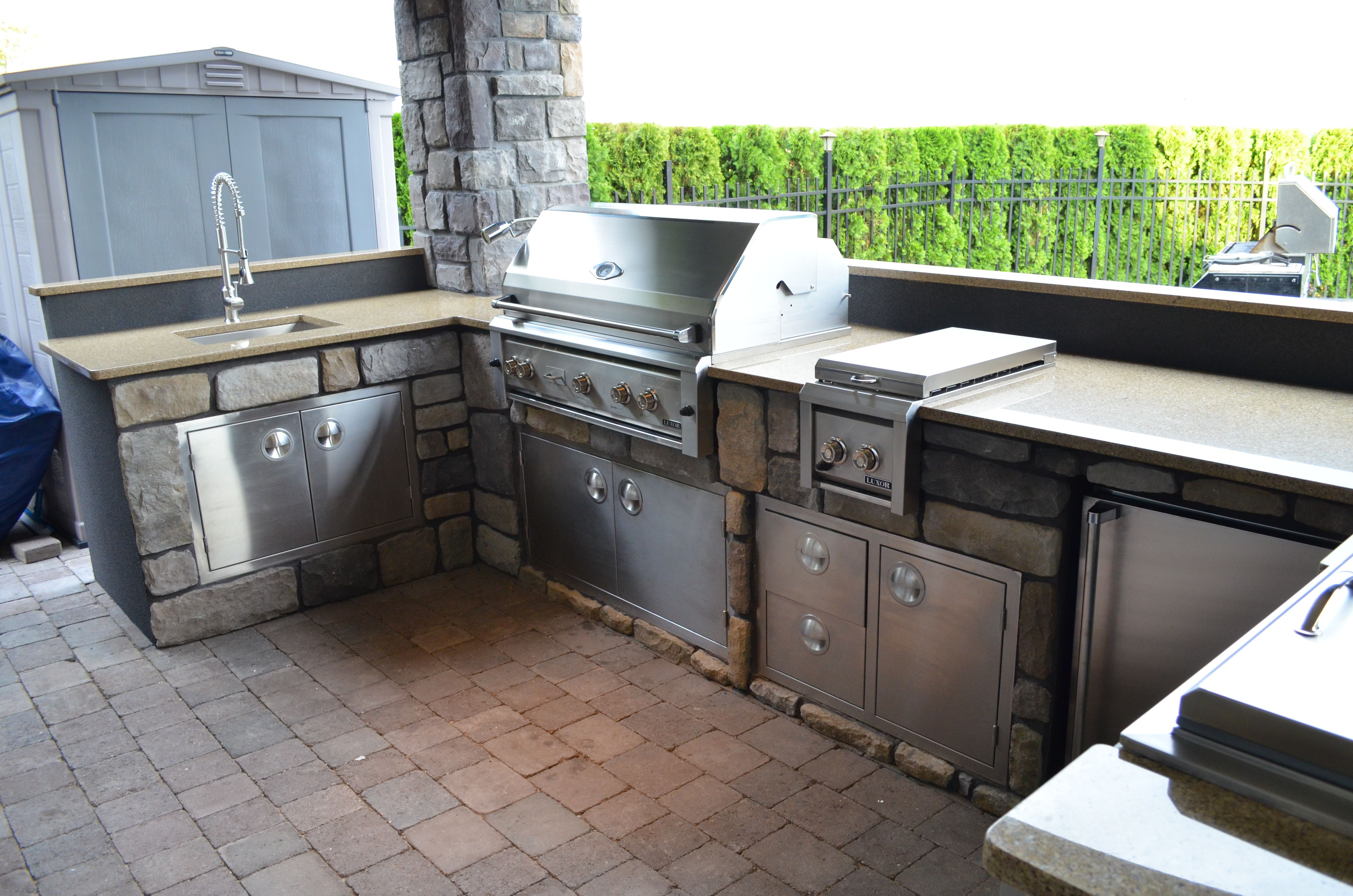 Luxury Outdoor Kitchen Created By Mode Concrete In Kelowna Bc Outdoor Kitchen Design Outdoor Kitchen Luxury Outdoor Kitchen