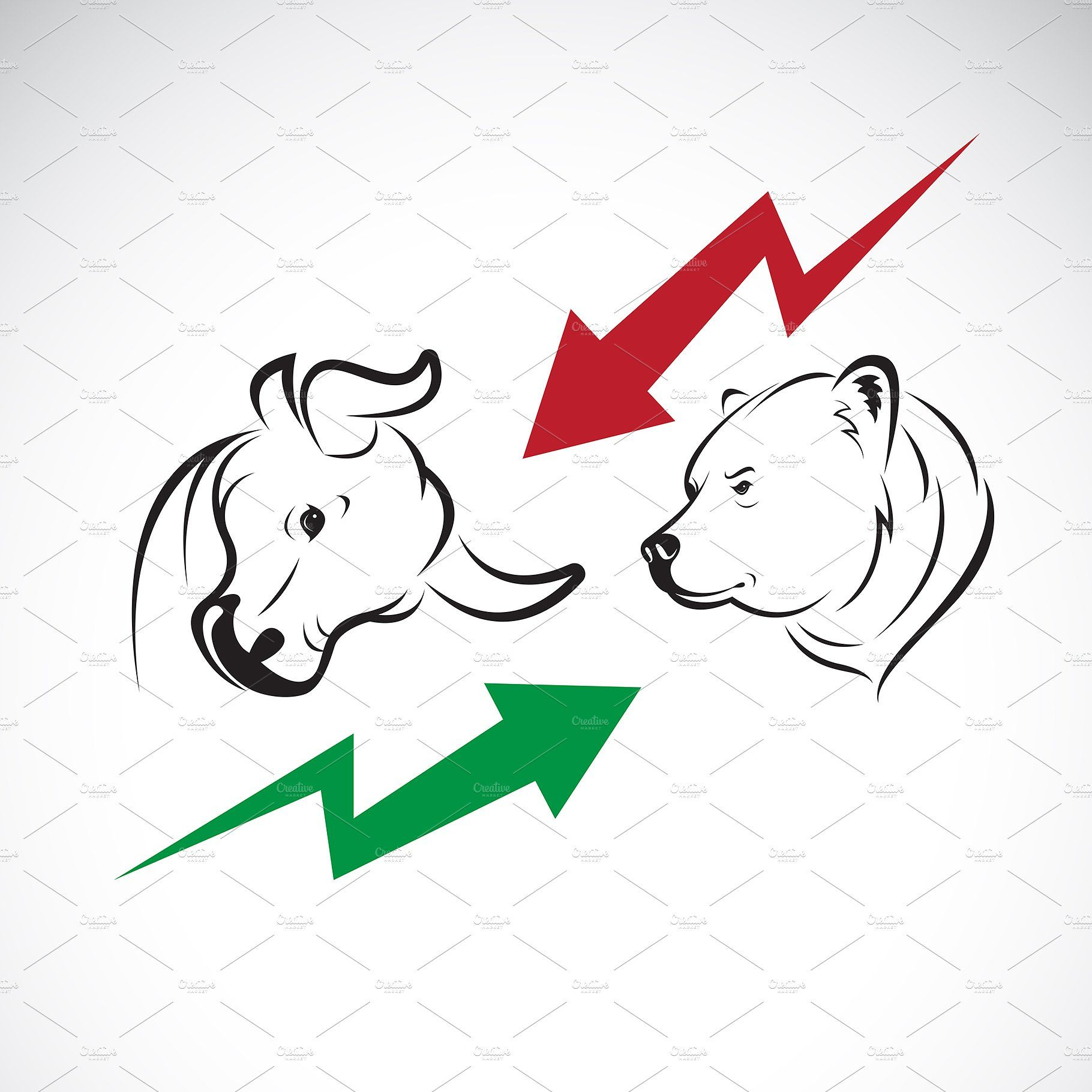 Bull And Bear Symbols Of Stock Marke Bull Stock Market Trends Symbols