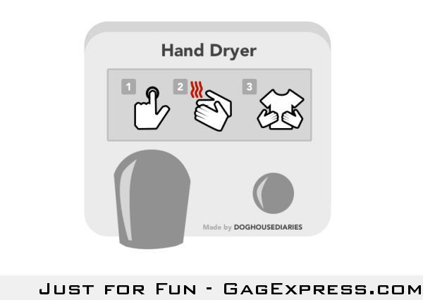 Honest hand drier instruction