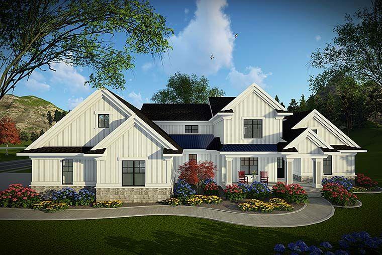Modern Farmhouse Style House Plan 75440 With 4 Bed 4 Bath 3 Car Garage Modern Farmhouse Plans Dream House Exterior Farmhouse Plans