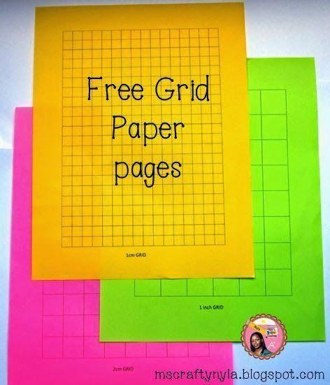 free grid paper templates education pinterest math teaching
