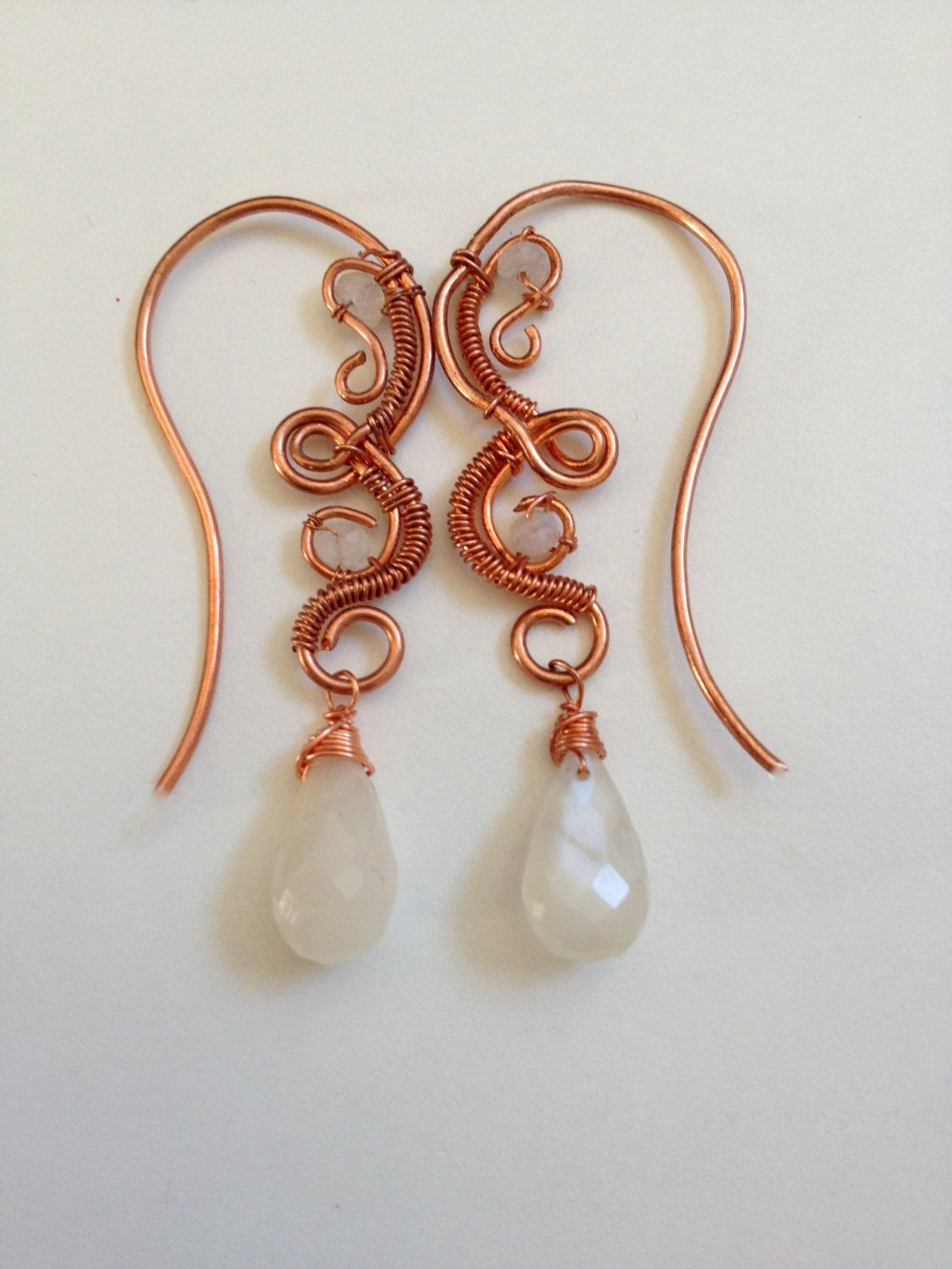 Wire wrapped jewelry handmade earrings Copper by Wiredesignjewelry ...