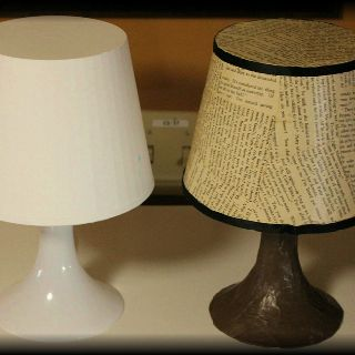 Decoupage lamp before/after