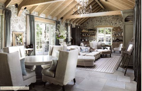 interiors stone cottage living area