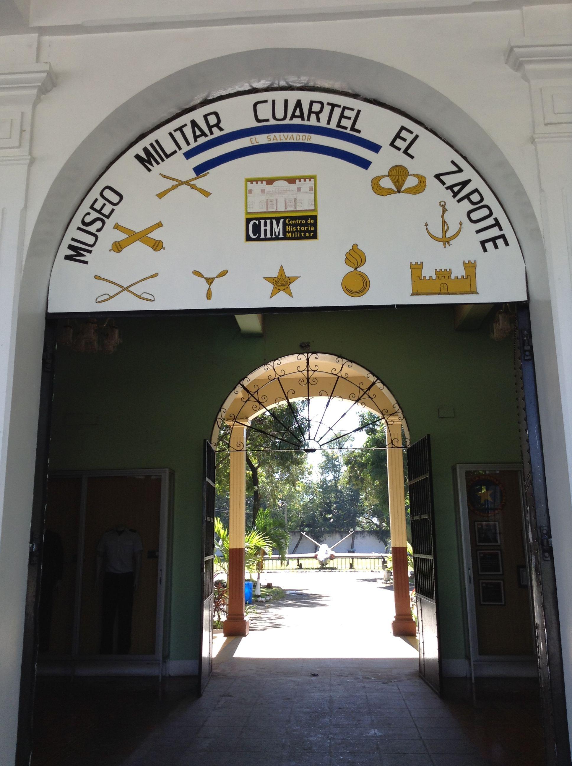 El Salvadoran Military Museum entrance...