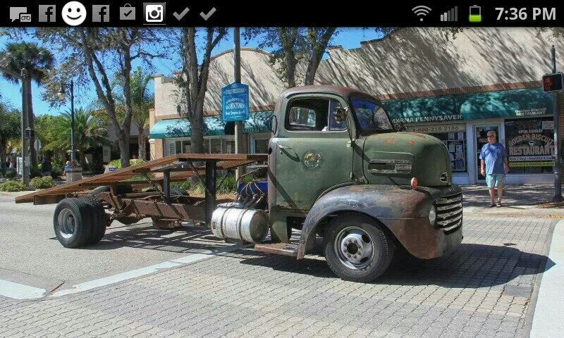 48 50 Ford F 6 Coe With Simple Open Ramp Deck Big Trucks Rat