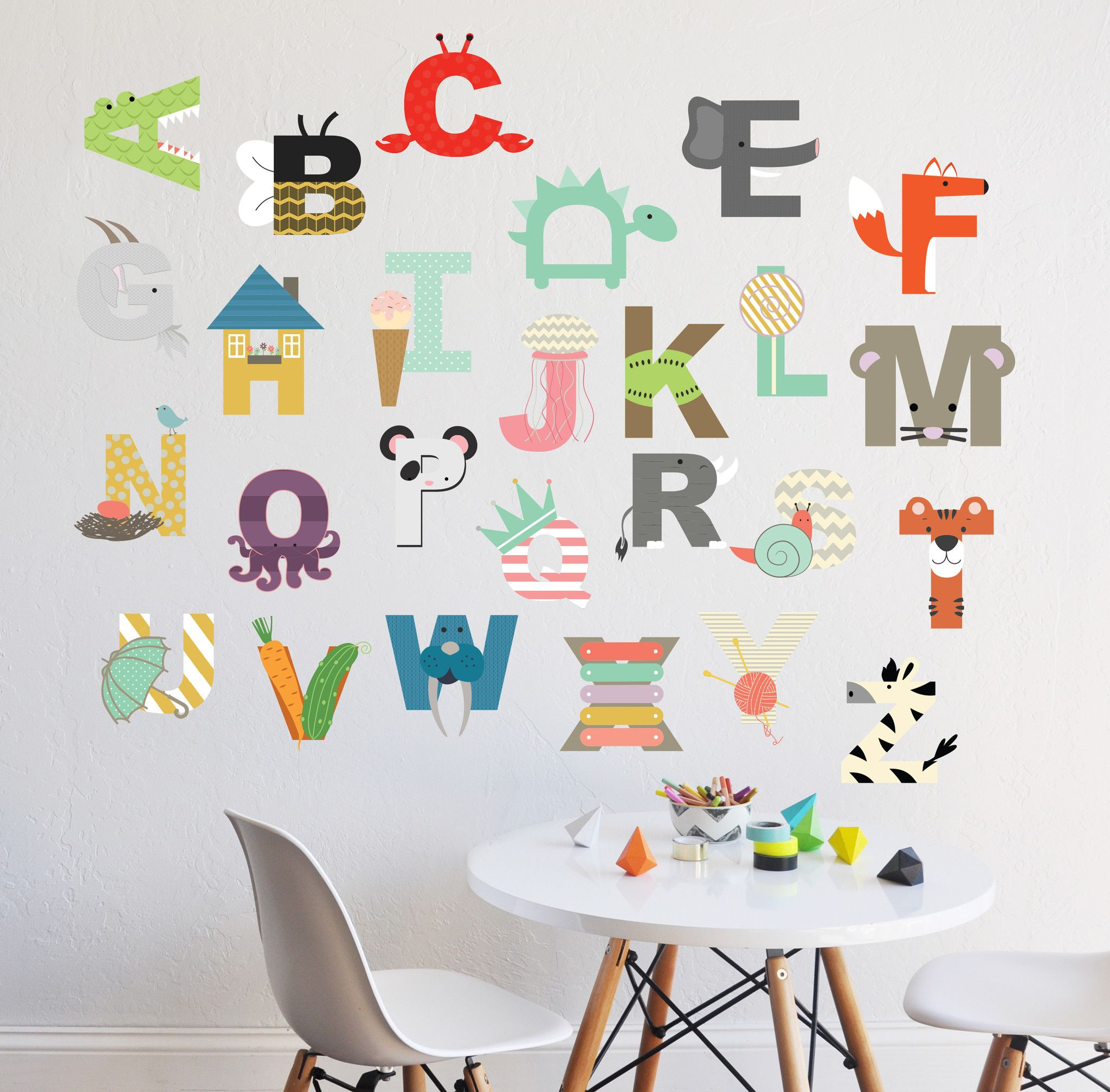 interactive alphabet childrens wall decal infant room interactive alphabet childrens wall decal