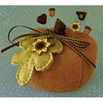 Pumpkin Spice Pincushion