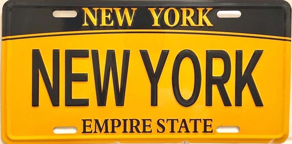 New York City License Plate Auto Or Home Decor Standard 12x6 Nyc