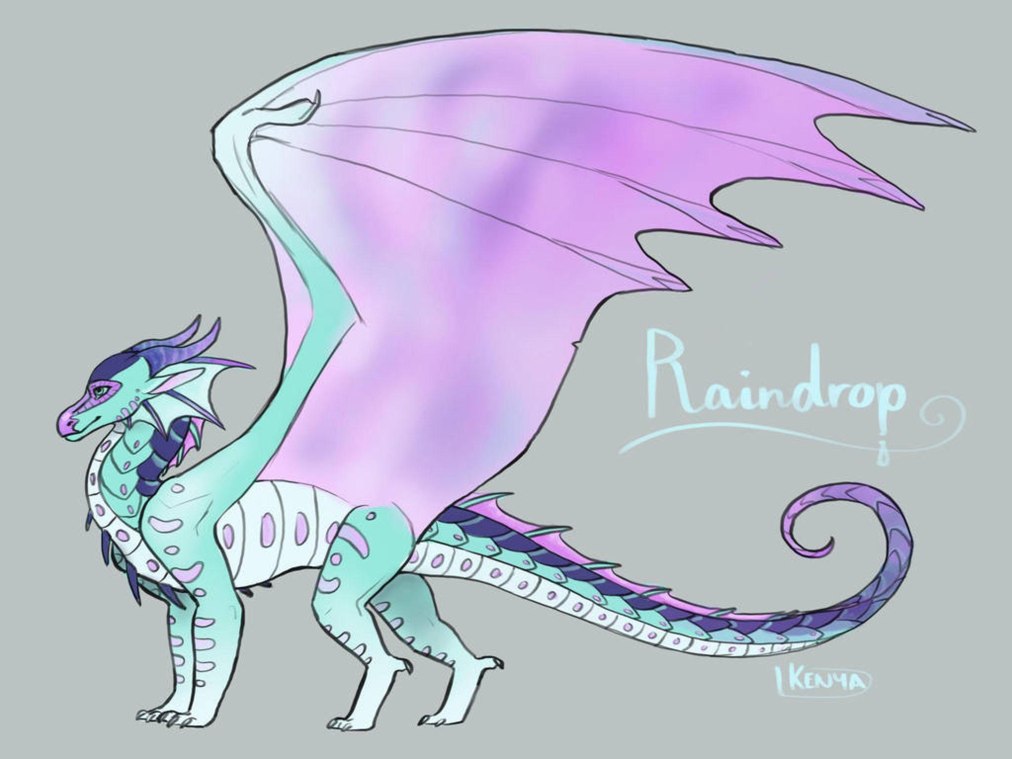 Raindrop By Kenyajoy On Deviantart In 2020 Wings Of Fire Wings Of Fire Dragons Fire Art