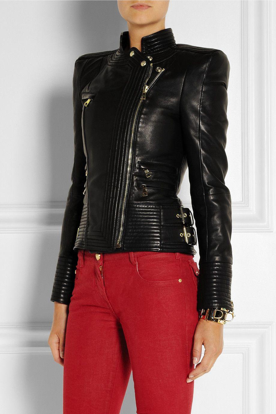 fcceb8ac754 Balmain   Leather biker jacket   NET-A-PORTER.COM   NETAPORTER ...