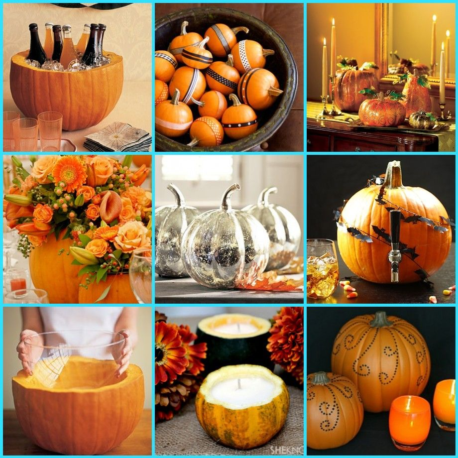 recycled pumpkins for your thanksgiving decor - san francisco