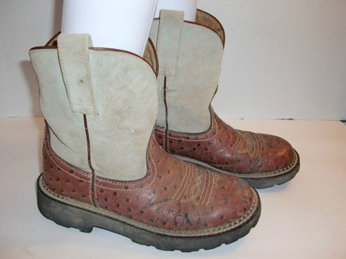 7c056884505 Ariat Fatbaby Ostrich 14717 Cowboy Western Boots Womens Size 7 1 2 B ...