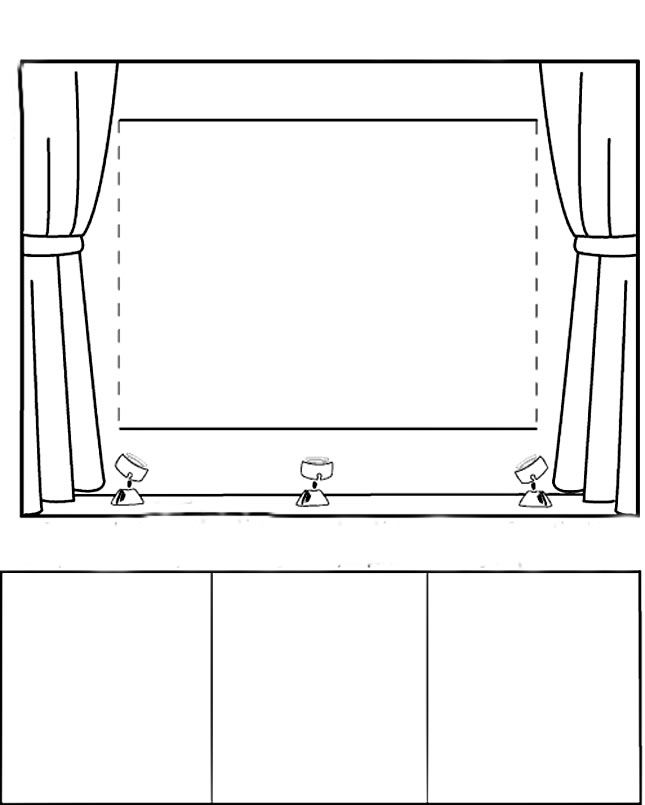 Coloring Page Of A Stage Kleurplaat Podium Stage Podium