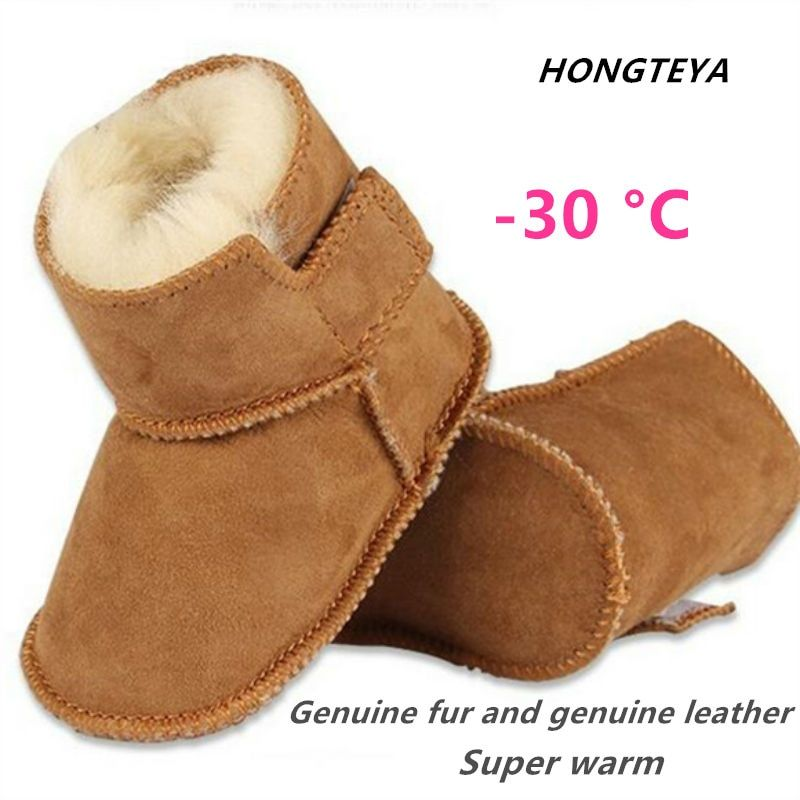Newborn Baby Girl Boy Snow Boots Winter Warm Booties Toddler Crib Shoes Cozy Hot