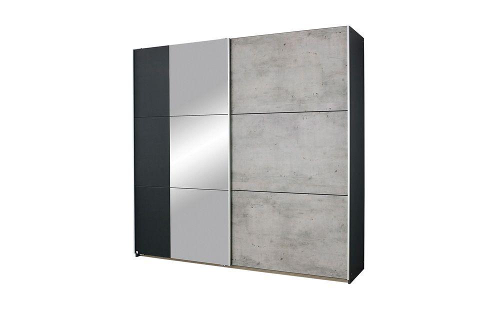 Best Rauch Lenny Black Grey 2 Door Sliding Wardrobe 175Cm 400 x 300