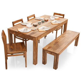 Incredible Six Seater Dining Table And Chairs dinette dining counter height table 8 wood seat chairs cappuccico Gresham Barcelona 6 Seater Dining Table Setwith Bench Natural