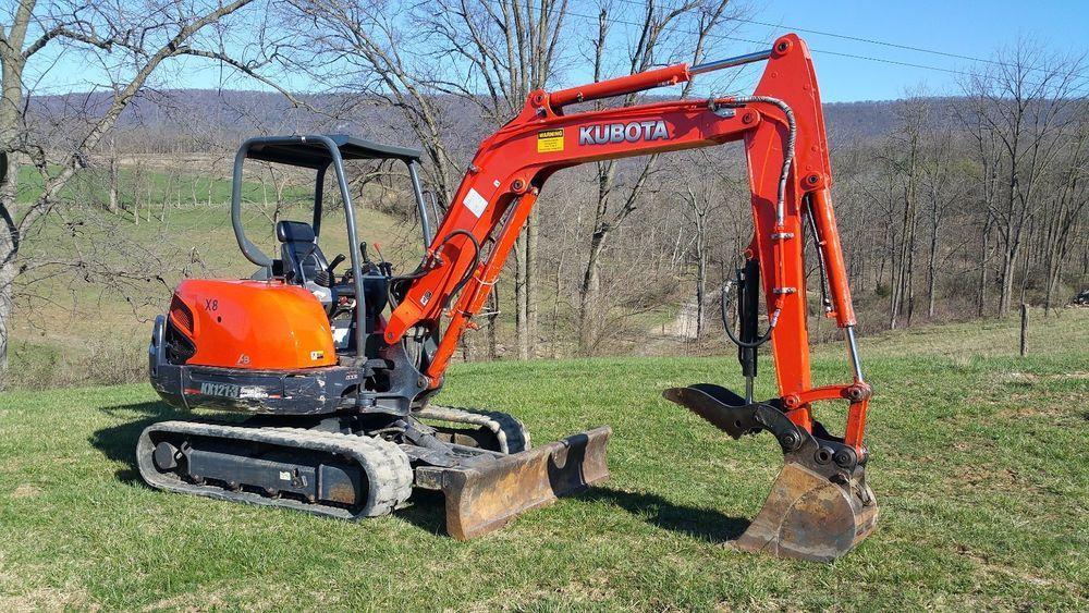 2012 Kubota Kx121 3 Mini Hydraulic Excavator Hydraulic Thumb Angle Blade Tracked Hydraulic Excavator Kubota Excavator