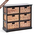 6-Drawer Black Storage Unit at Kirkland's