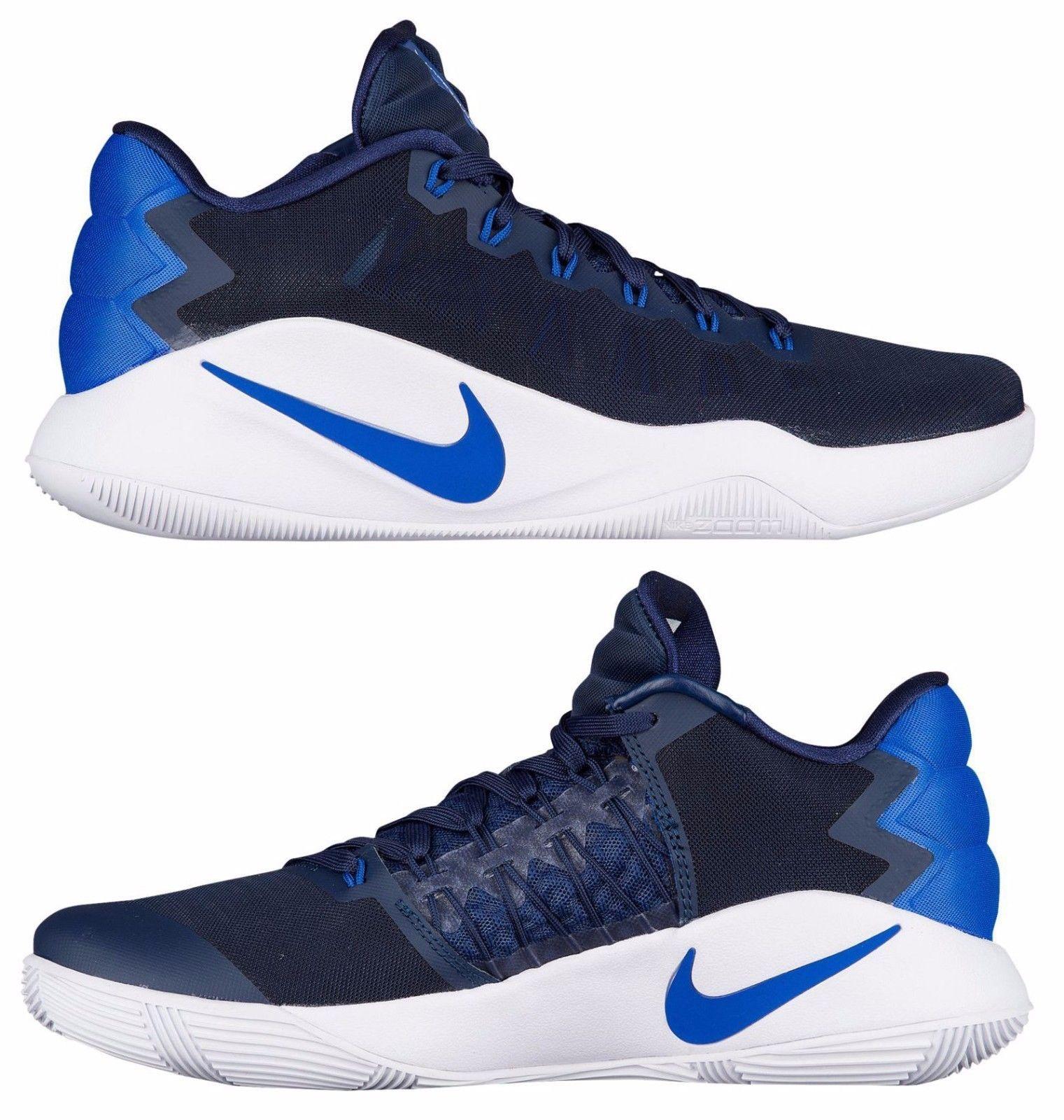 NIKE HYPERDUNK 2016 LOW MEN\u0027S BASKETBALL MIDNIGHT NAVY - GAME ROYAL - PHOTO  BLUE